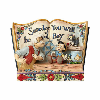 Disney Jim Shore PINOCCHIO Storybook Figurine with Geppetto Jiminy Figaro & Cleo