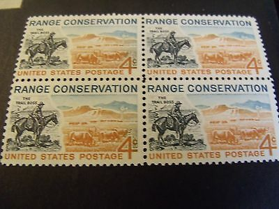 "US Postage Stamp 1961 Range Conservation ""the TRAIL BOSS"" Henry cachet  4-4c"