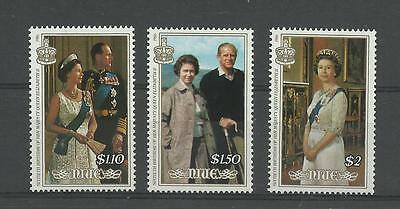 NIUE 1986 Queen Elizabeth 60th Birthday   umm / mnh set