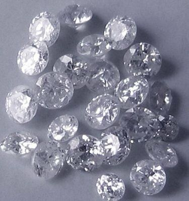 0,12 cts total Great lot x 10 natural River D loose round diamonds 1,30-1,40 mm