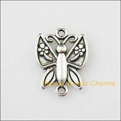 4 New Animal Butterfly Connectors Tibetan Silver Tone Charms Pendant 16.5x22.5mm