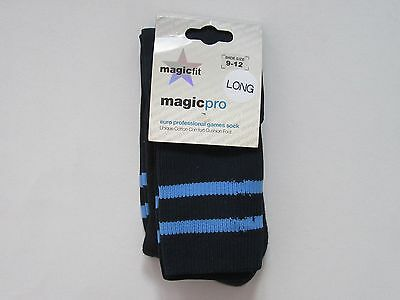 Boys Youths size 9 - 12  Long Navy Stripe Sport Socks Football Rugby Hockey