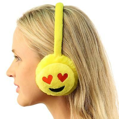 Winter Emoji Emotion Icon Fur Headband Earmuffs Ear warmers Adjustable