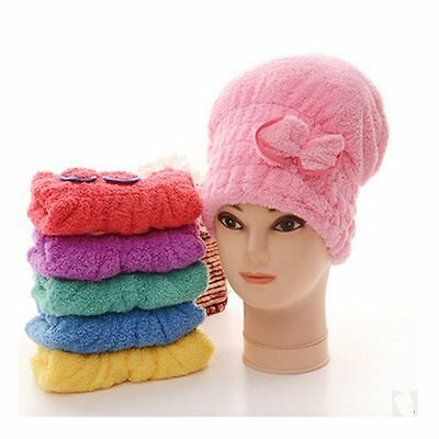 Salon Product Wash Tool Wrapped Towel Shower Cap Bathing Dry Hair Hats