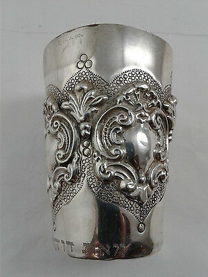 Kiddush Cup Becher - Sterling Silver 925 - 94 grams - Engraved, see description