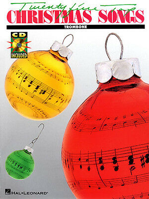 25 Top Christmas Songs Trombone Solo Sheet Music Play-Along Book CD Pack NEW