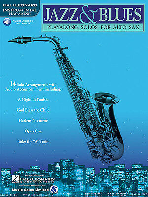 Jazz & Blues for Alto Sax Sheet Music Saxophone Play-Along Book Online Audio NEW