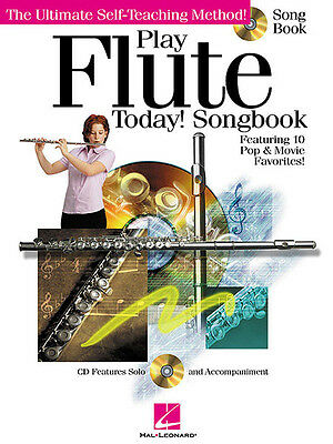 Play Flute Today! Songbook Sheet Music 10 Pop Songs Hal Leonard Book CD Pack NEW