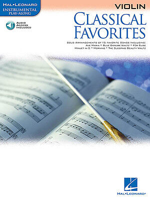 Classical Favorites Violin Sheet Music Hal Leonard Play-Along Book Online Audio