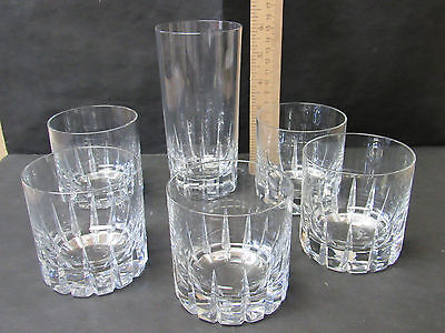(5) Vintage Rosenthal TIVOLI Bjorn Wiinblad Old Fashioned glass tumblers plus hb