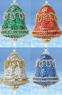 "/""Triple the Glam/"" kit makes 3 Christmas Ornaments Satin Bead Sequin ALL 3 COLORS"