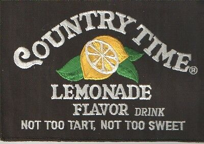 Country Time Lemonade Sew On Embroidered Patch