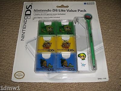 NINTENDO DS LITE GAME CARD CASES STLYUS Zelda Link NEW!