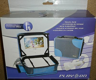 NINTENDO Wii PORTABLE 7 inch LCD SCREEN PACK TRAVEL CARRY CASE CAR CHARGER NEW!
