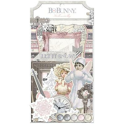 Bo Bunny Winter Wishes Noteworthy Die-Cut Journaling & Accents Cardstock
