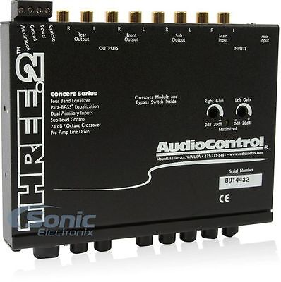 Audiocontrol THREE.2 Car Audio Eq Line Driver 3 Bnad Equalizer Crossover