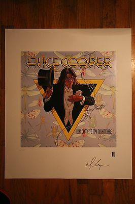 Alice Cooper Hand Signed Art Print Welcome to My Nightmare Lithograph #627/690
