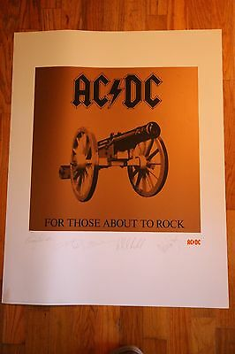 ACDC Album Art Print FOR THOSE ABOUT TO ROCK Lithograph Angus Young S/N COA