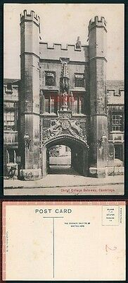 Orig. AK Cambridge England Collge Gateway