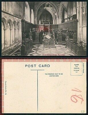 Orig. AK Cambridge England Jesus College