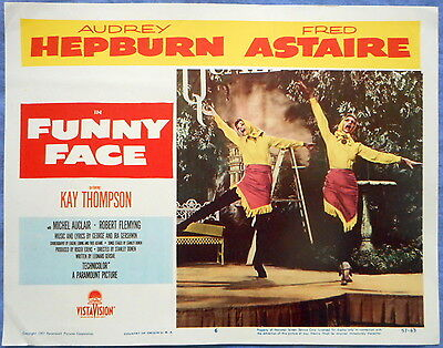 FUNNY FACE Lobby Card #6 Kay Thompson and Audrey Hepburn George Gershwin 1957