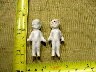 2 x excavated vintage victorian frozen charlotte doll age 1860 Germany Art 9219