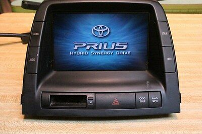 Toyota Prius Multi-Function Audio Display Screen Climate Information MFD Unit OE