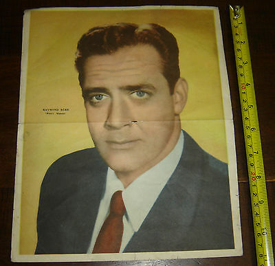 RAYMOND BURR   Perry Mason   ARGENTINA Canal TV insert  Poster vintage 1960