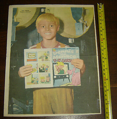 JAY NORTH Dennis the Menace ARGENTINA Canal TV variant Poster vintage 1960