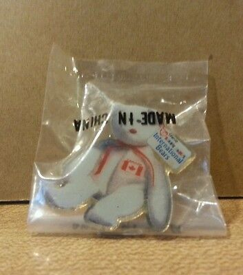 McDonald's Ty Beanie Baby Maple Bear Crew Lapel/Hat Pin New in pkg.