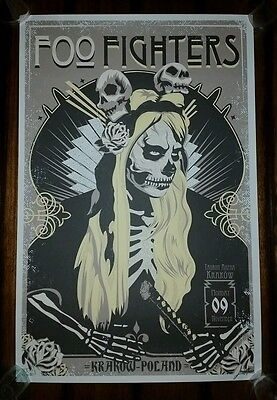 FOO FIGHTERS 2015 Krakow Poland Show Poster Print Europe Tour Leviathan Grohl