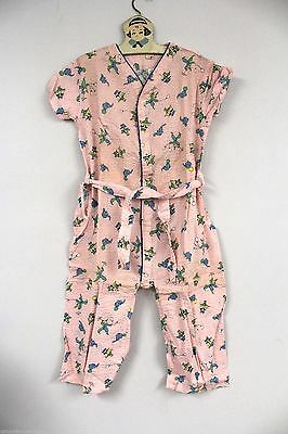 VTG 1940s Girls Trap Door 1 PC  Pajamas Circus Print NOS  Sz 8 Little Duchess