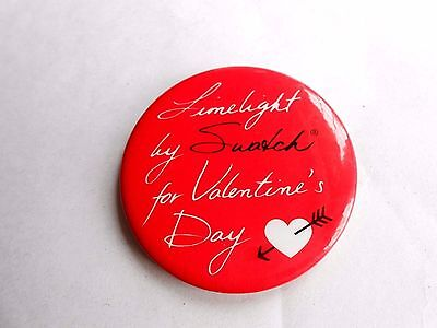 Vintage Limelight by Swatch For Valentines Day Wrist Watch Advertising Pinback