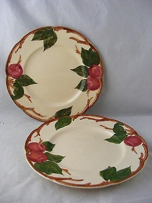 "4 Franciscan Apple 8"" Salad Plates Hand Decorated Made in California"
