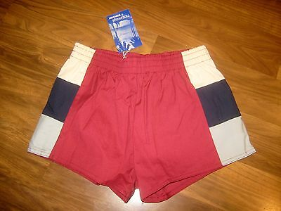 NEW Vtg 70s Colorblock CASTAWAY Athletic Track Shorts Youth Boys L swim trunks