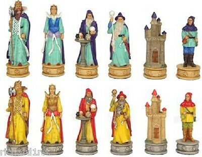 Chess Set Pieces Mythical Wizards & Enchantresses NEW