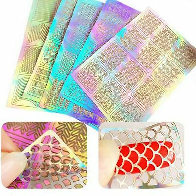 3 Sheet Nail Art Transfer Stickers Decal 3D Design Manicure Tips Decorations