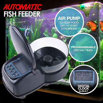 Fish Feeder Automatic Food Dispenser  Digital Fish Feeding Aquarium Tank Timer