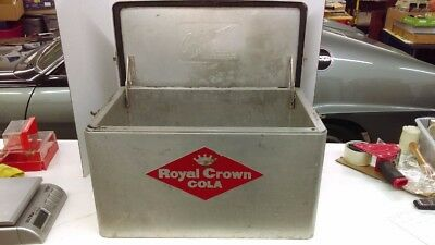 "Vintage 50's RC Royal Crown Aluminum Soda Cooler By Cronstroms 22"" x 13"" x 13"""