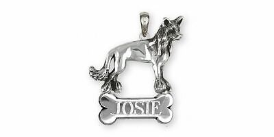 Chinese Crested Pendant Jewelry Sterling Silver Handmade Dog Pendant CC4-NP