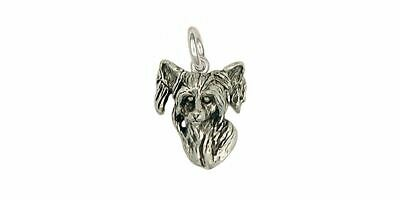 Chinese Crested Charm Jewelry Sterling Silver Handmade Dog Charm CC1-C