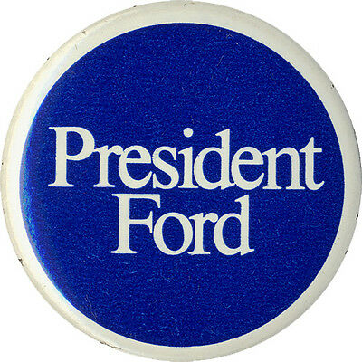 Official 1976 Gerald Ford Campaign Logo Button (1483)