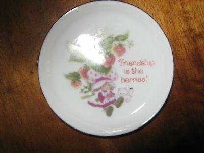Vintage Strawberry Shortcake Porcelain  Pin Dish