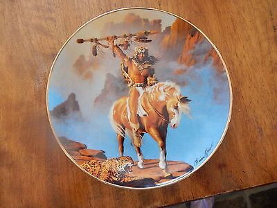 """Franklin Mint Indian Collector Plate  NO Certificate """"SPIRIT OF THE SOUTH WIND"""""""