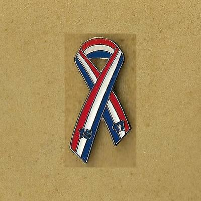 Red, White, and Blue Pins USA American Ribbon 15 17
