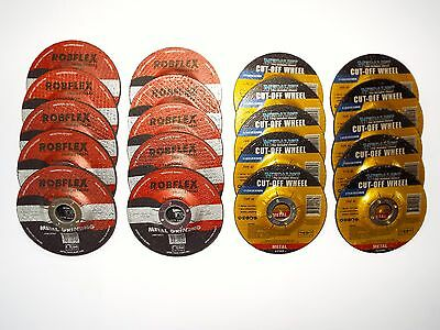 METAL GRINDING DISCS / CUTTING DISCS  - 20 PIECES  -  115mm x 22mm bore -  NEW