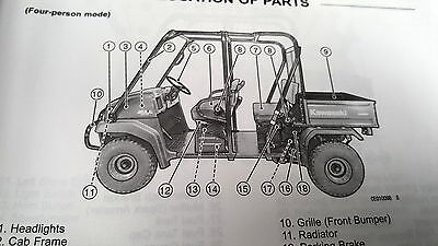 KAWASAKI MULE 3010 Trans 4X4 - Repair, Service, Workshop