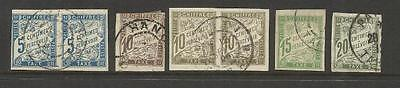 France ~ 1893 Postage Due ~ Colonial Issues (Imperforate)