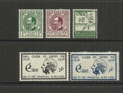 Eire Ireland ~ 1934-43 Commemoratives (Mint Mlh)