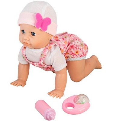 Interactive Baby Doll Crawling Giggling Pretend Role Play Baby Girl